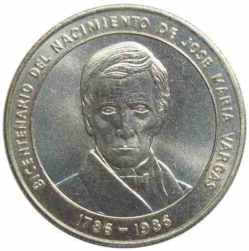 Moneda Plata Bicentenario Nacimiento José María Vargas