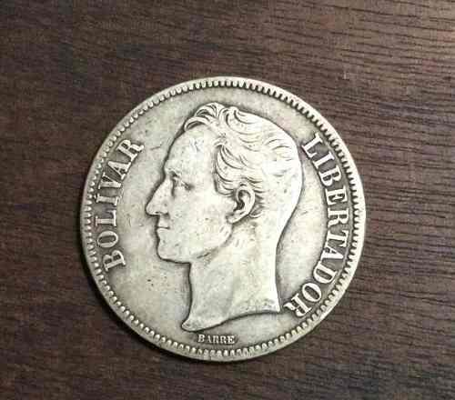 Monedas De Plata 5 Bolívares