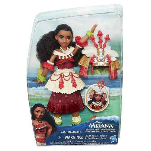 Muñeca Disney Moana De Oceania Vestido Ceremonial Habro