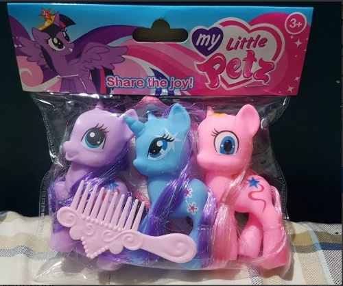 My Little Pony Hermoso Set De 3 Pzas Figuras De 10cm
