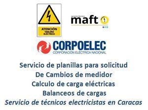 Servicio de planilla de CORPOELEC tecnico electricista