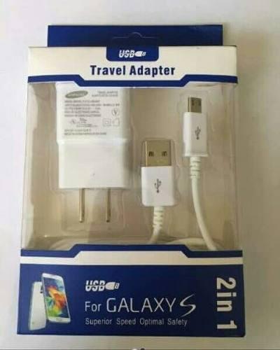 Cargador Samsung Galaxy 2 En 1 Con Cable Usb 2a
