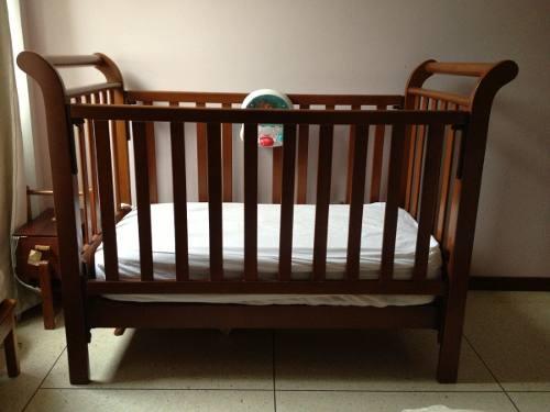 Cuna De Bebe Fabricada En Madera Con Colchon Incluido