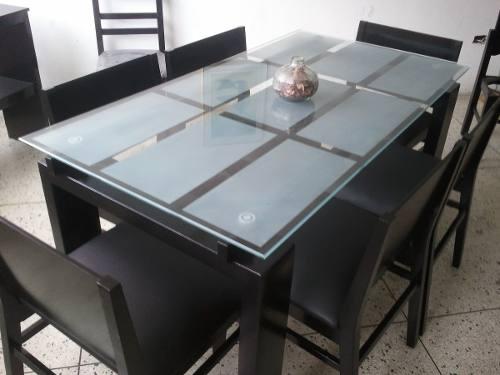 Comedor moderno de 6 sillas doble vidrio | Posot Class