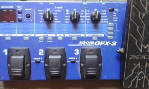 Pedalera Zoom Gfx-3 De Efectos Para Guitrarra