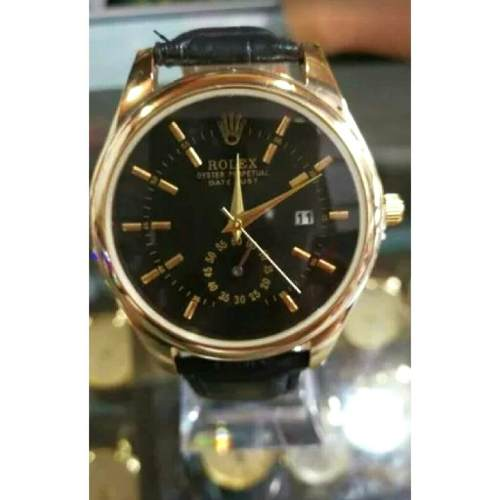 Reloj Rolex Con Correa De Cuero Para Caballero