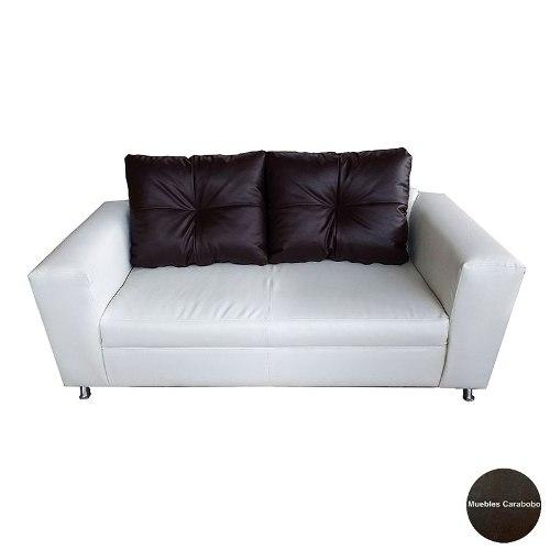 Sofa 2 Puestos En Semicuero