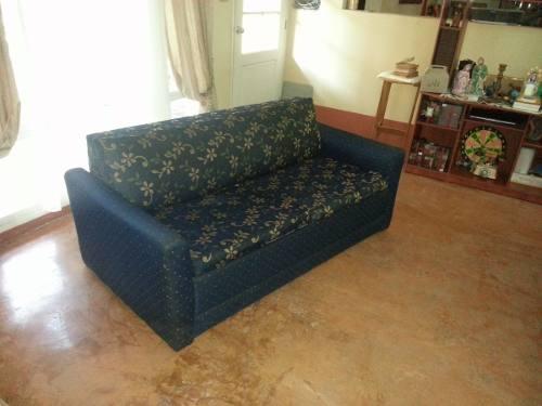 Sofa Cama Matrimonial De Hierro Tapizado En Tela