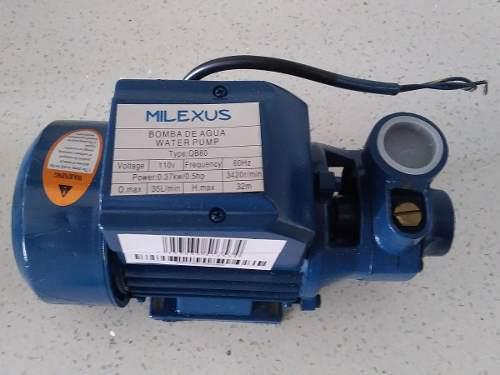 Bomba De Agua De Media 1/2 Hp. Milexus Nueva. Embobin Cobre!