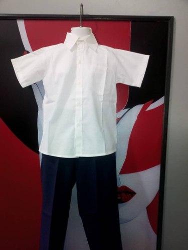 Camisa, Chemisse Escolar Y Pantalones En Gabardina Strech