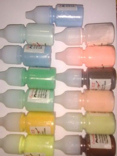 Polvos Acrilicos De Colores De 3 Grs Para Uñas Kit 3 Unds