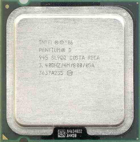 Procesador Intel® Pentium® D 945 Caché De 4 M, 3,40 Ghz,