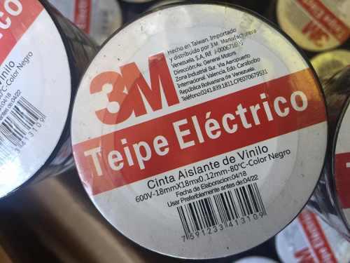 Teipe Eléctrico 3m Rotulado Vencimiento Mayo 2022