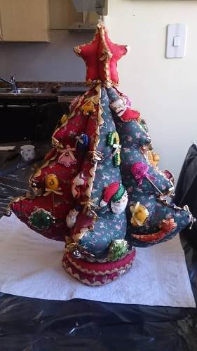 Arbol De Navidad En Tela Para Decorar Casa
