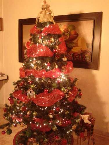 Arbolito De Navidad Con Adornos Y Luces