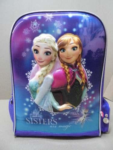 Bolso Morral Escolar Niñas Infantil Relieve 4d Frozen Capi