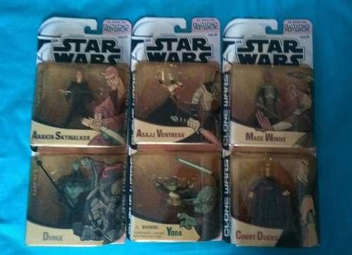 Combo Star Wars Clone Wars Figura Muñeco Grievous Doku