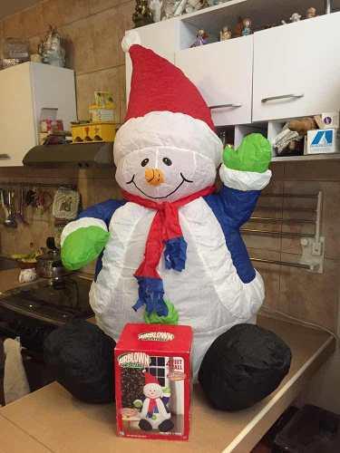 Decoración Navidad Inflable Muñeco De Nieve (10$)
