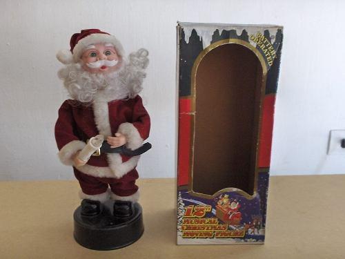 Espiritu De La Navidad 42 Cm + Santa Musical Con Baterias