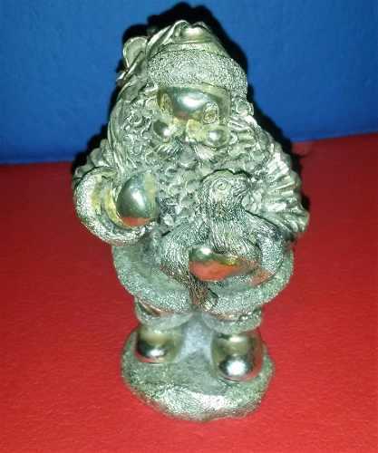 Figura Antigua Espíritu De La Navidad Baño De Plata