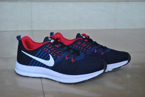 Kp3 Zapatos Nike Air Zoom Azul Rojo Para Caballeros