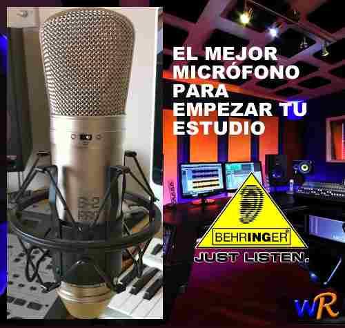 Micrófono Behringer B2 Pro, Para Estudio De Grabación