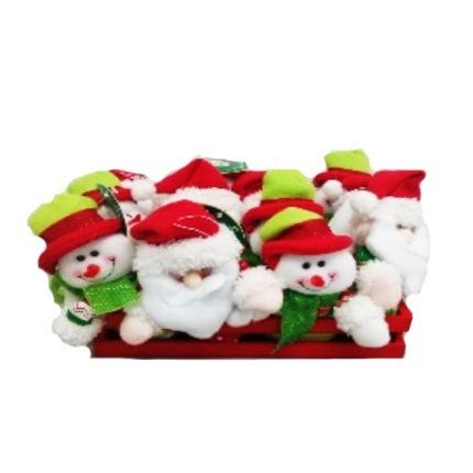 Muñeco Mini Santa Y Nieve 12cm