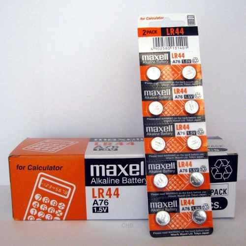 Pila Batería Maxell Lr44 A76 Blister De 10, Vencimiento