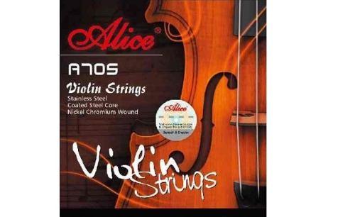 Set De Cuerdas Para Violin Alice A705