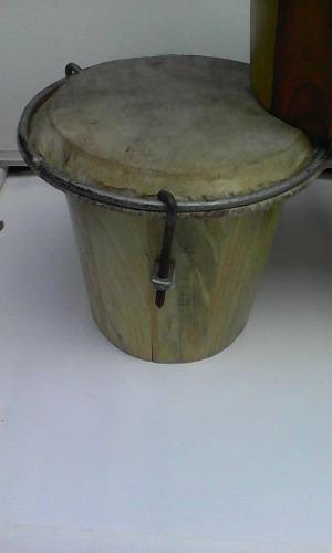 Tambor De Madera Parche De Cuero Instrumento bs