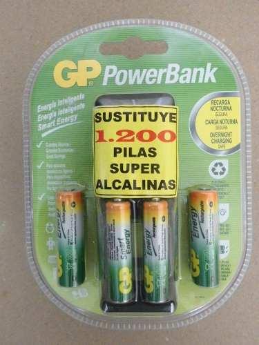 Cargador Pilas Recargables Baterias Aa Y Aaa Gp Power Bank