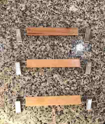 Ganchos De Madera Con Pinzas Para Ropa