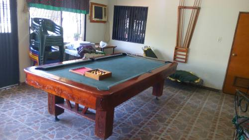 Mesa De Pool De Madera Tallada 8 Pies Largo