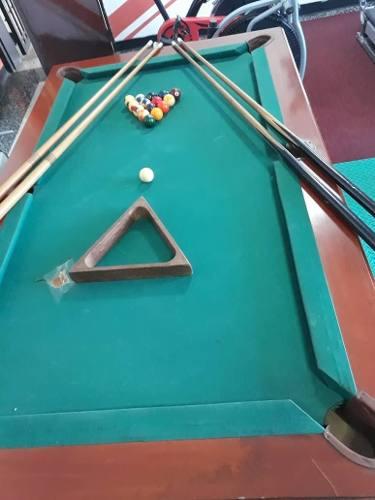 Mesa De Pool Para Niños Usada Con Sus Accesorios