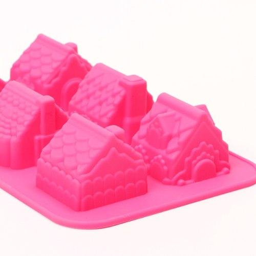 Molde De Silicón Casitas Suizas Ponquecitos Cupcake (fda)