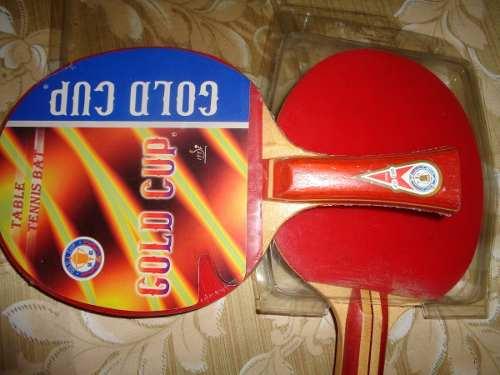 Par De Raquetas Pin Pong O Tenis De Mesa Gold Cup