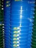 Pipote De Plasto De 57 Litros Color Azul Con Tapa Negra