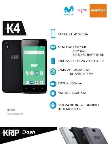 Telefono Android Krip K4 Dual Sim Nuevos Tienda Física