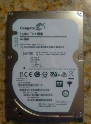 Vendo Disco Duro Seagate 320gb Para Laptop