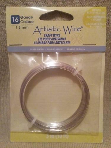 Alambre Con Baño De Plata Calibre 16 Artistic Wire Nuevo