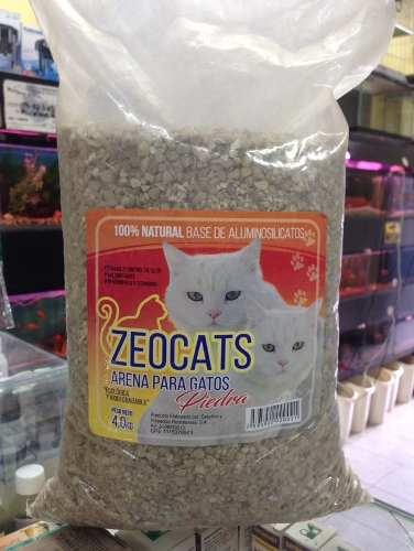 Arena Para Gatos Zeocats Piedras 4 Kg