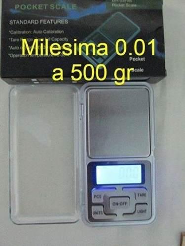 Balanza Peso Digital 0.01 A 500g Oro Joyeria