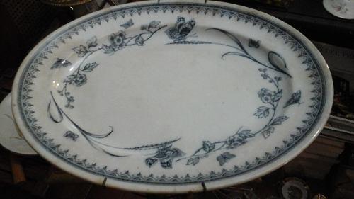 Bandeja Antigua De Porcelana Admiral Numerada Sello Antiguo
