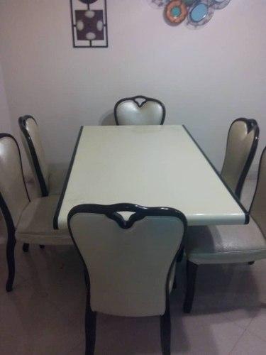 Comedor De 6 Puestos, Tope De Granito.