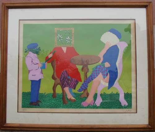 Exclusiva Litografía De Campos Biscardi - Arte Figurativo