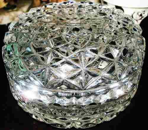 Joyero De Cristal De Bohemia Antiguo En Perfecto Estado