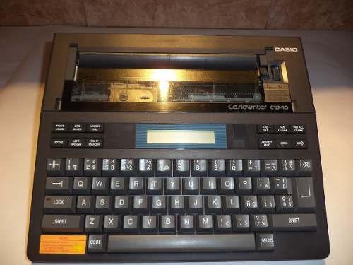 Maquina De Escribir Electrica Casio Writer Cw-10sp.