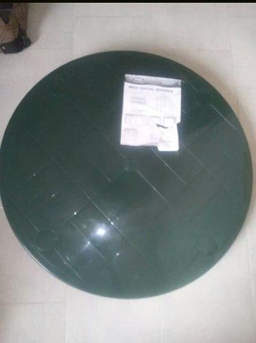 Mesa Plastica Manaplas Redonda En Color Verde