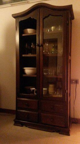 Mueble Estilo Vitrina De Madera Oscura