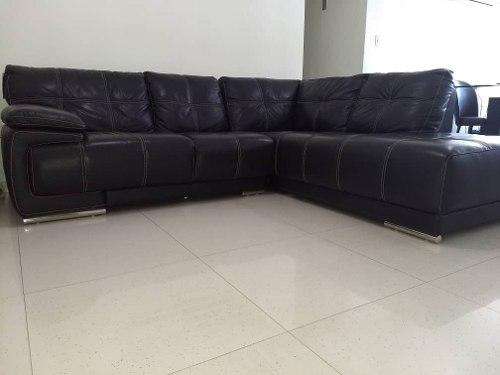Mueble Modular Negro En Cuero